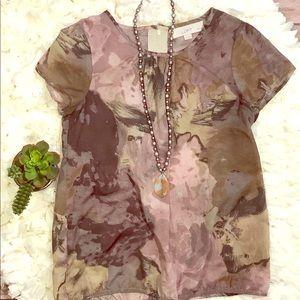 LOFT BY ANN TAYLOR delicate petition blouse